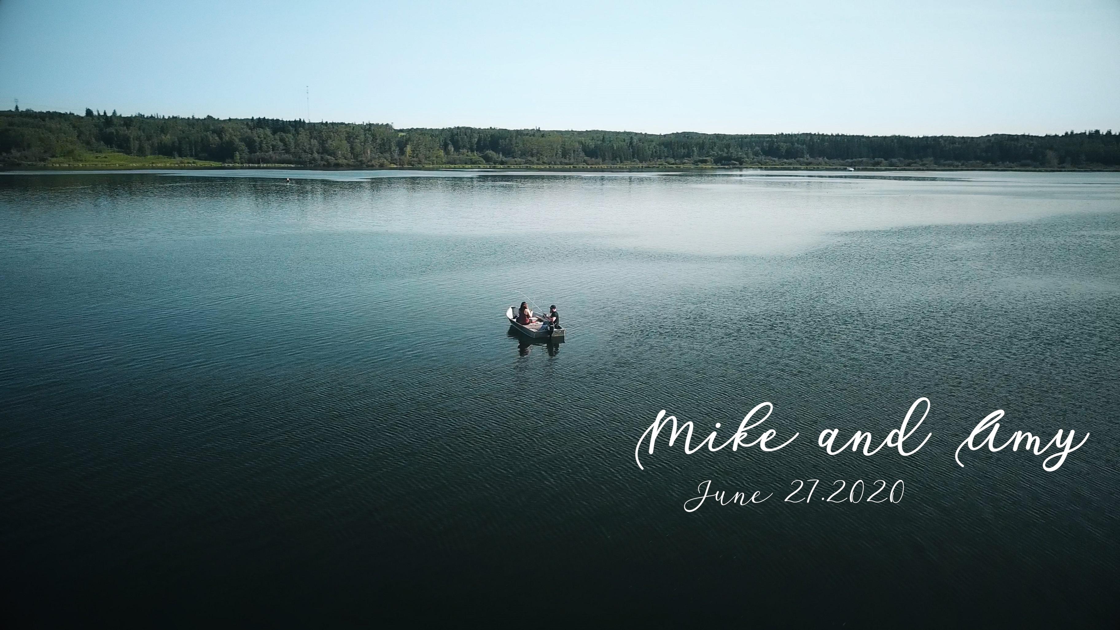 Mike + Amy | Edmonton, Canada | Wabamun Lake