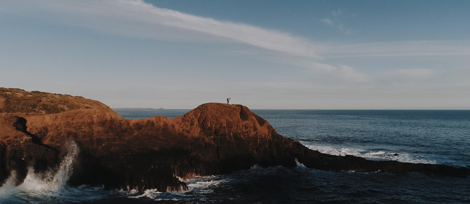 Bec + Tristan | Flinders, Australia | a cliff
