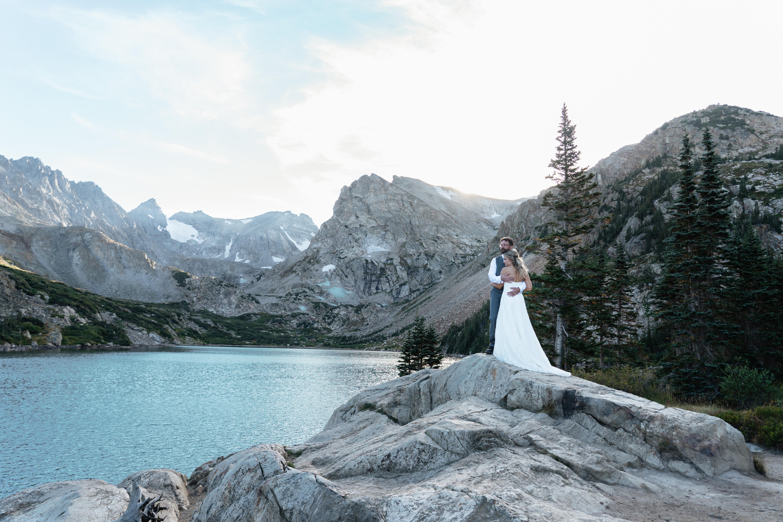 Stephanie + Justin   Colorado, Colorado   Alpine Lake