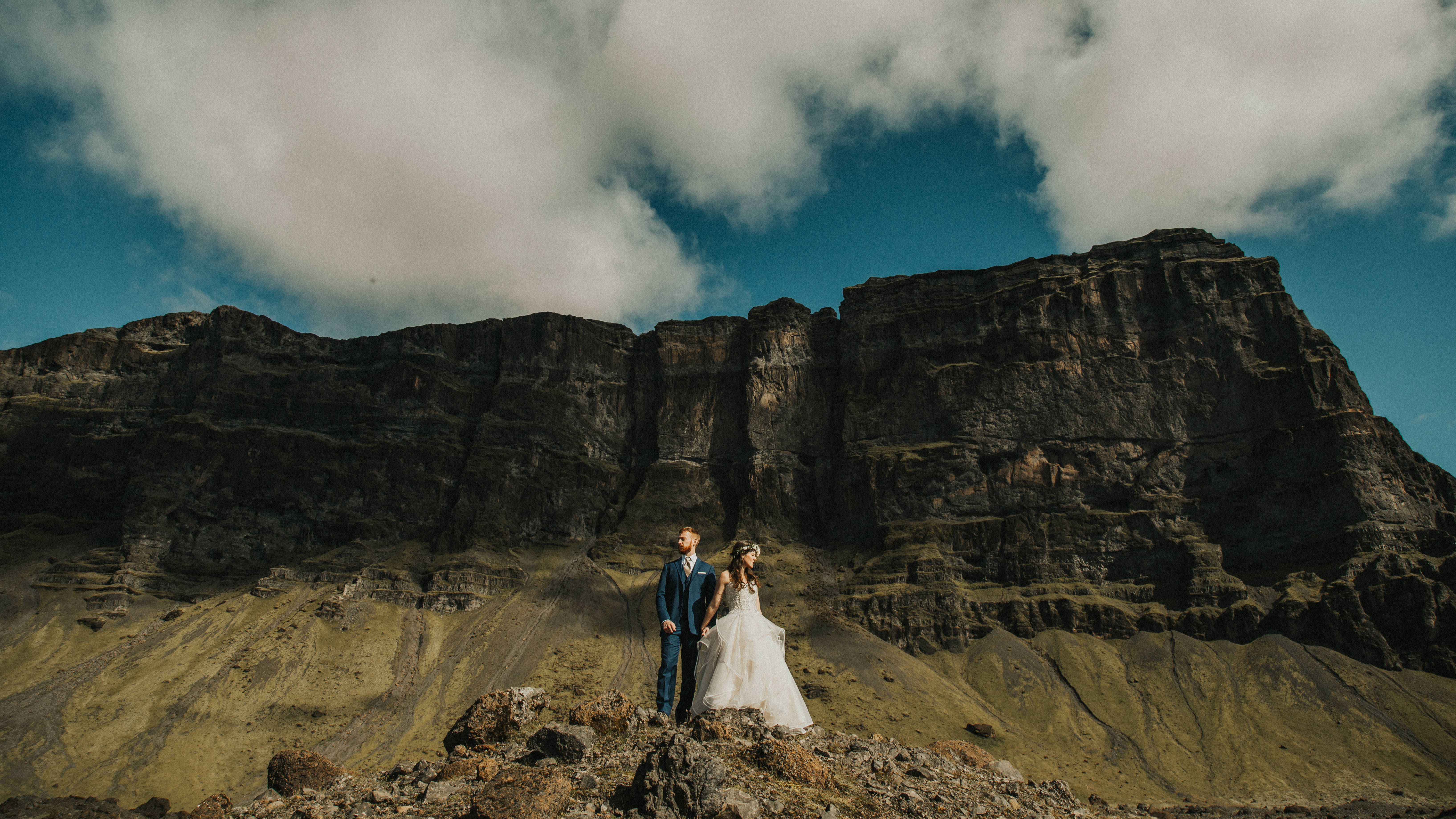 Christina + Kyle | Iceland, Iceland | a cliff