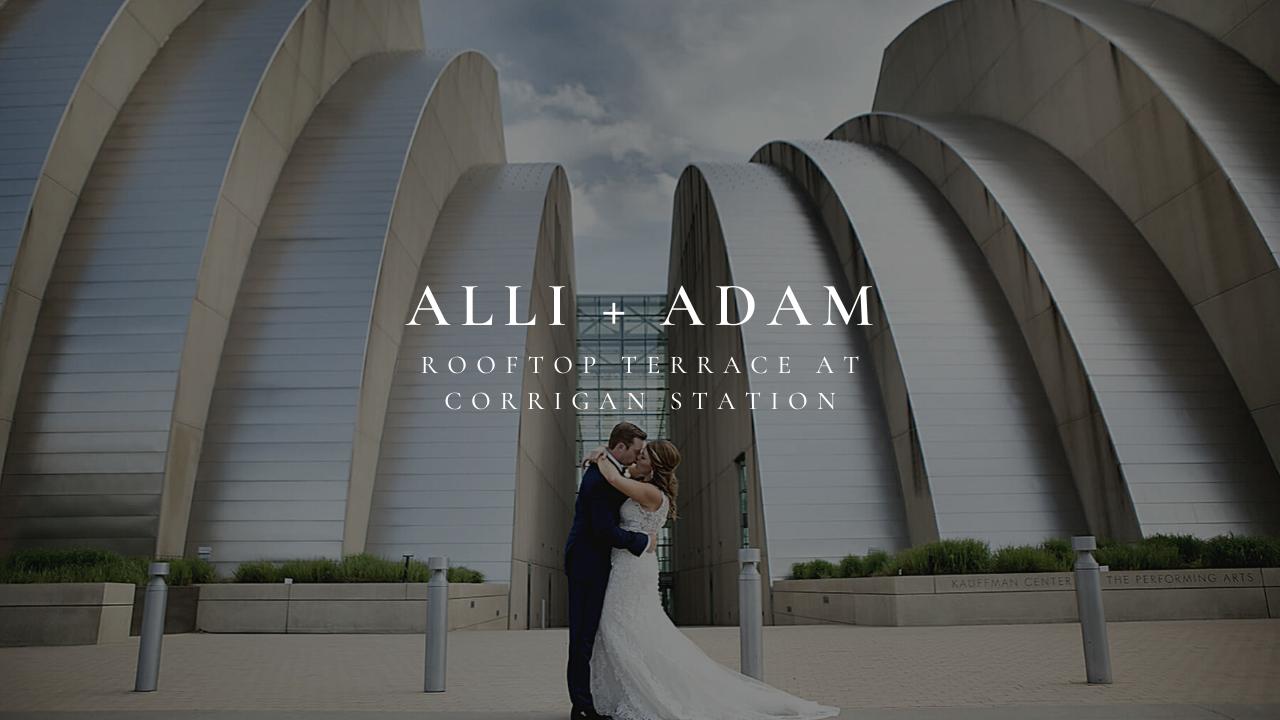 Alli + Adam | Kansas City, Missouri | Rooftop Terrace at Corrigan Station