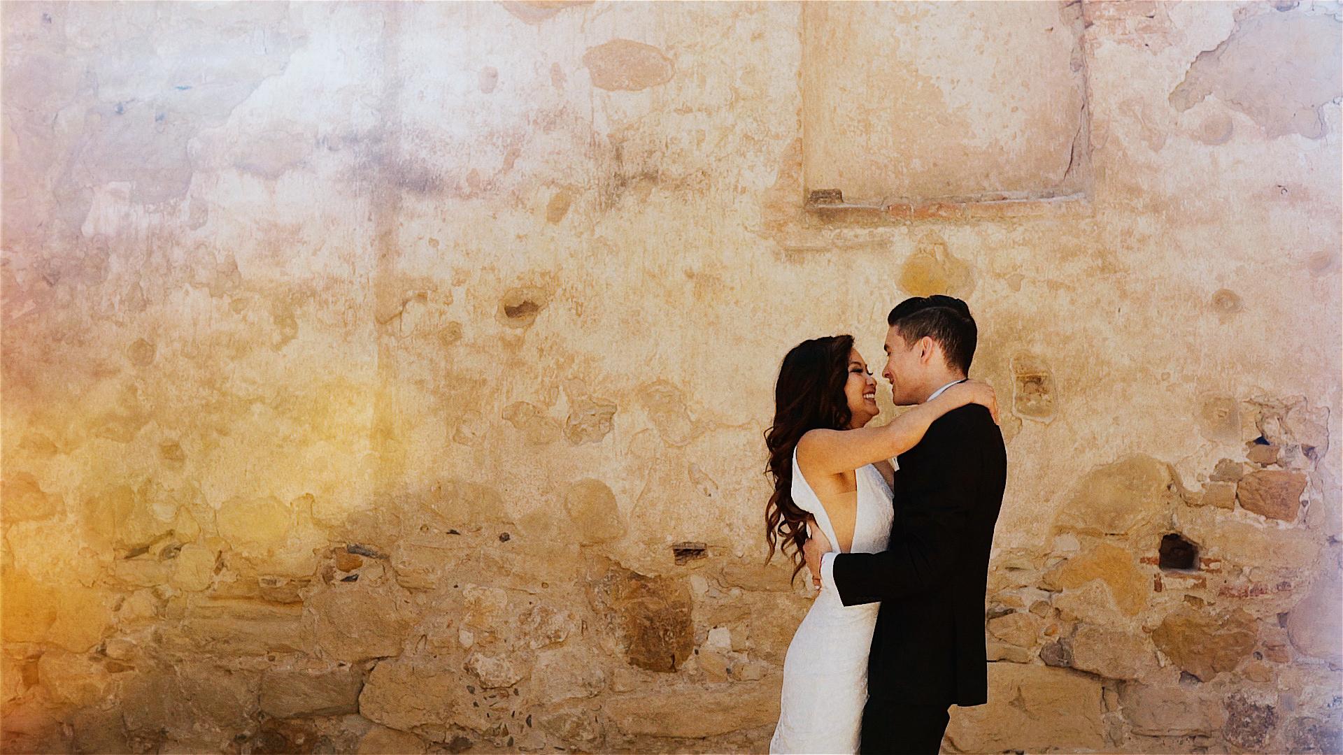 Michelle + Ryan | San Juan Capistrano, California | Franciscan Gardens