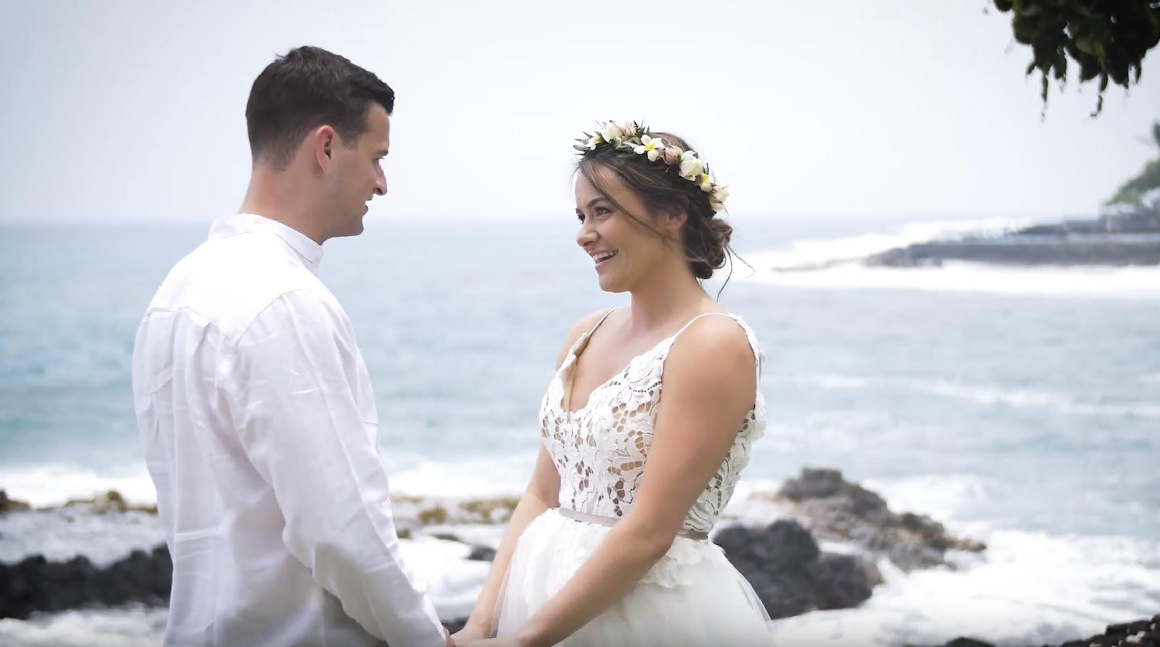Gabby + Kevin | Kailua-Kona, Hawaii | Kona Beach Bungalow