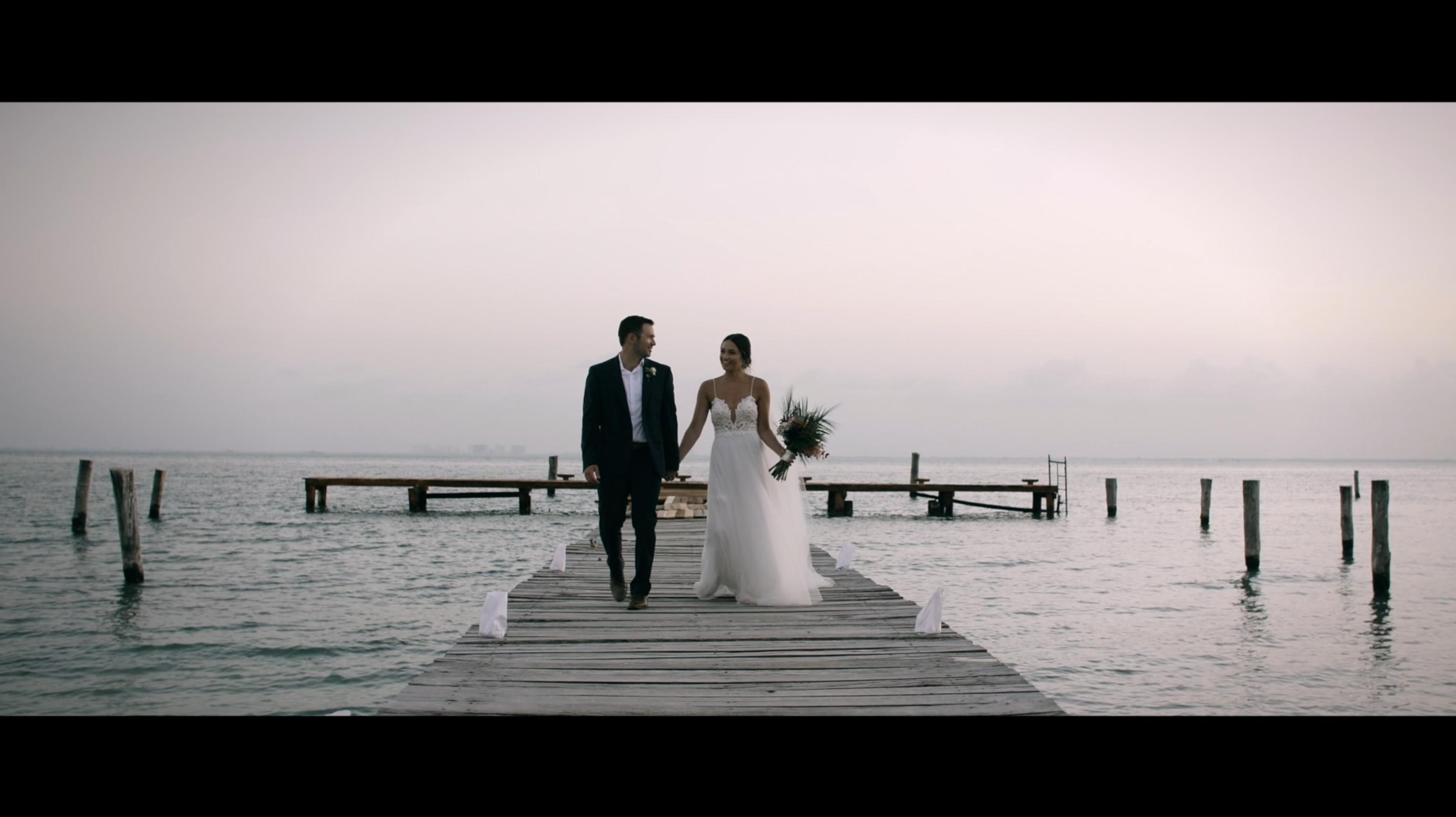 Elise + Nick | Isla Mujeres, Mexico | Zama Beach Club