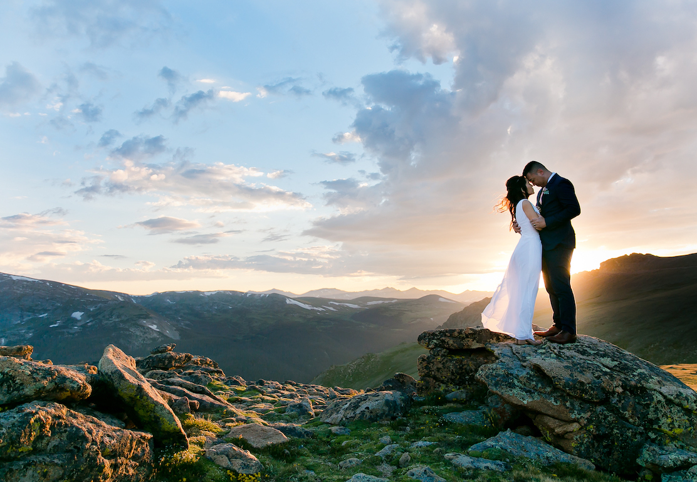 Kim + Q | Colorado, Colorado | a mountaintop