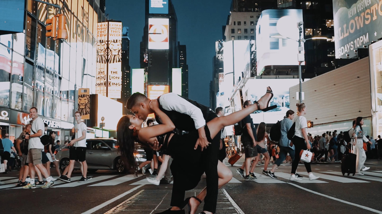 Tevin + Shivani | New York, New York | Times Square