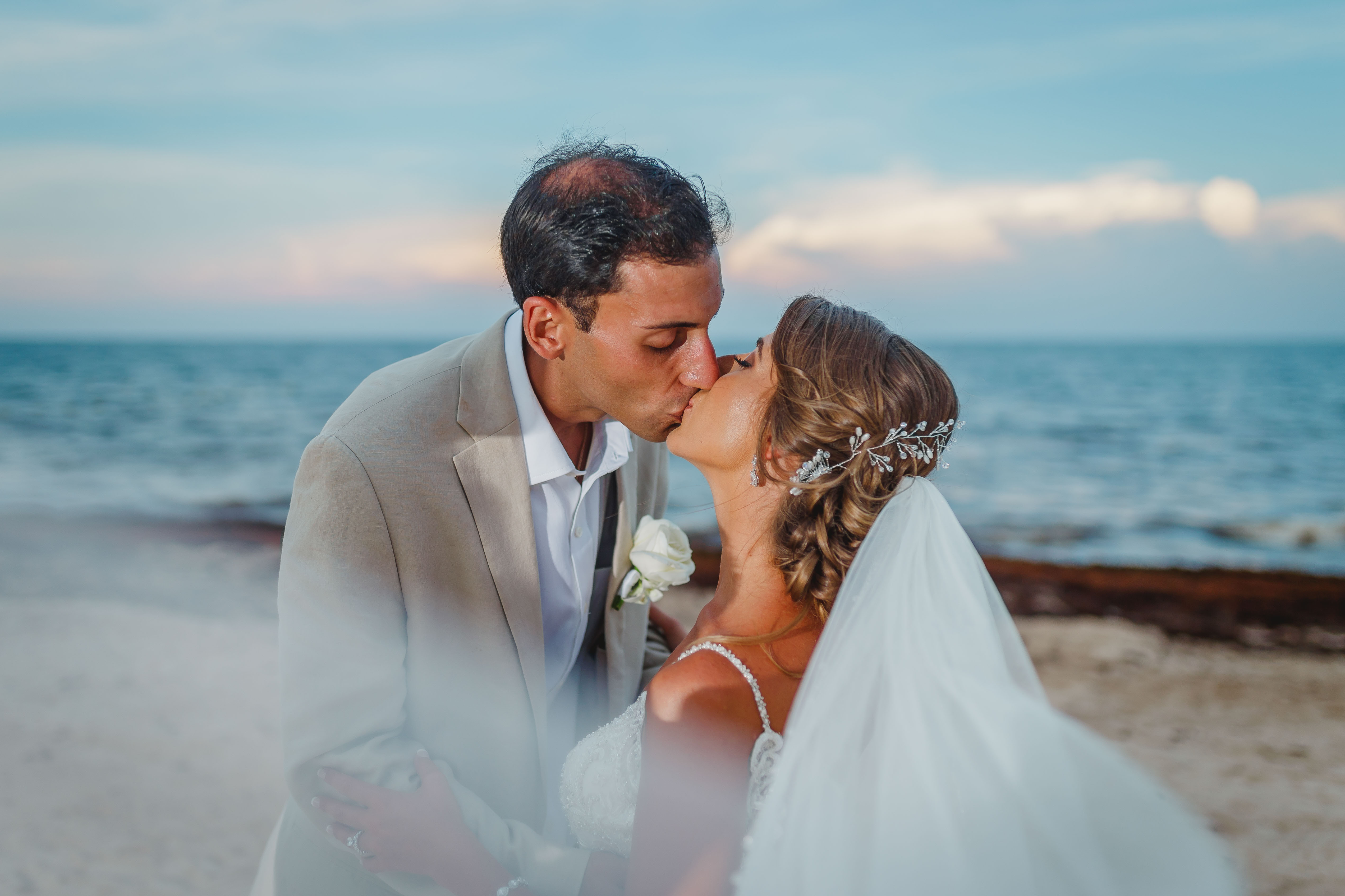Geena + Adam | Puerto Morelos, Mexico | Dreams Riviera Cancun Resort & Spa