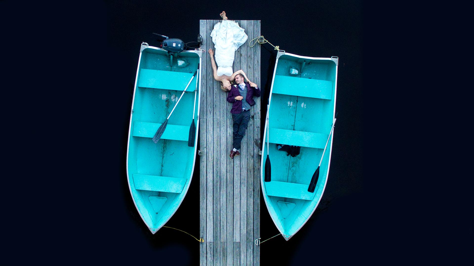 Krista + Swayer | Weare, New Hampshire | lake shore village resort