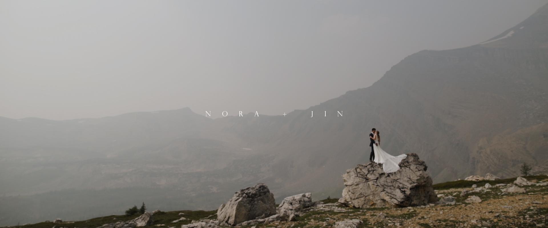 Nora + Jin | Banff, Canada | Hidden Lake