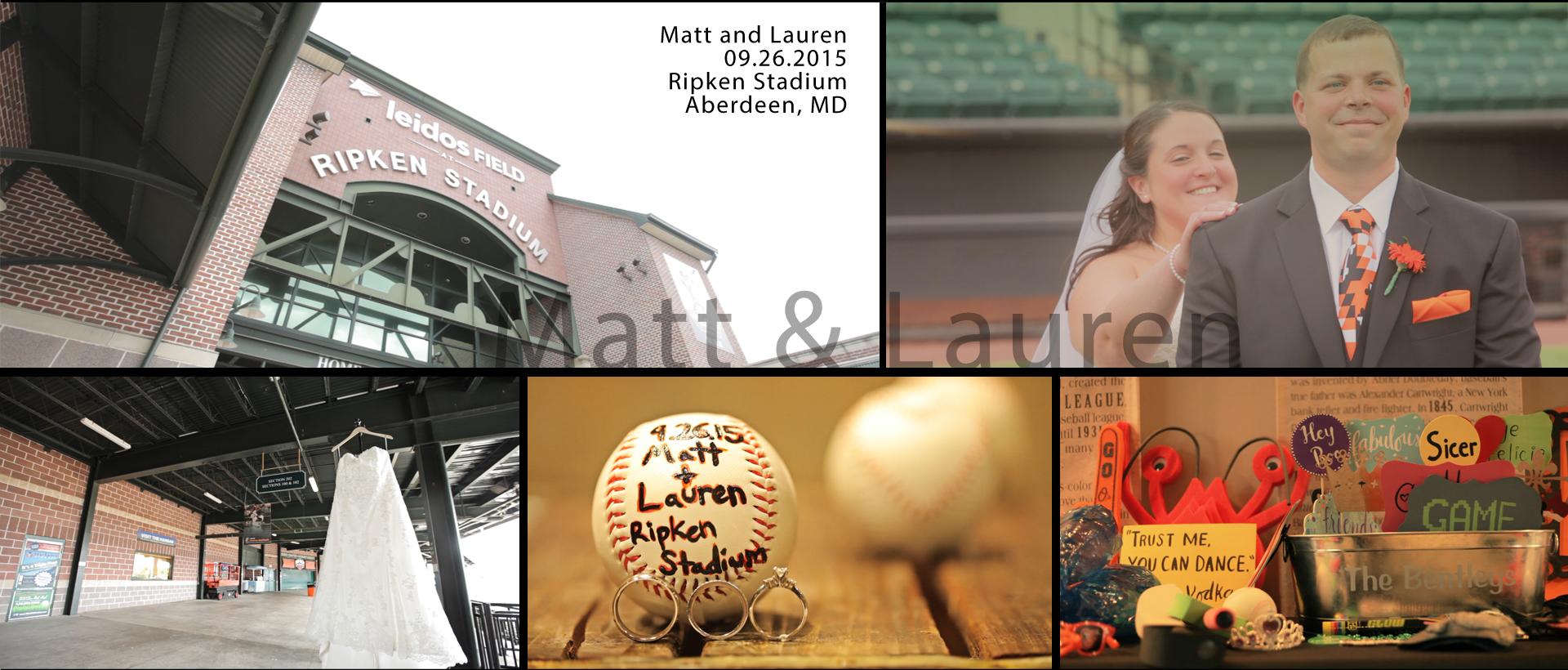 Matt + Lauren | Aberdeen, Maryland | Ripken Stadium