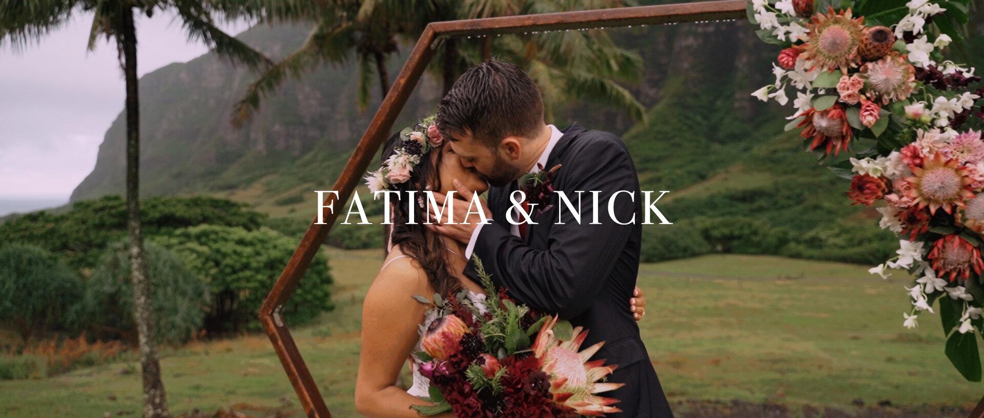 Fatima + Nick | Kaneohe, Hawaii | Paliku Gardens at Kualoa Ranch