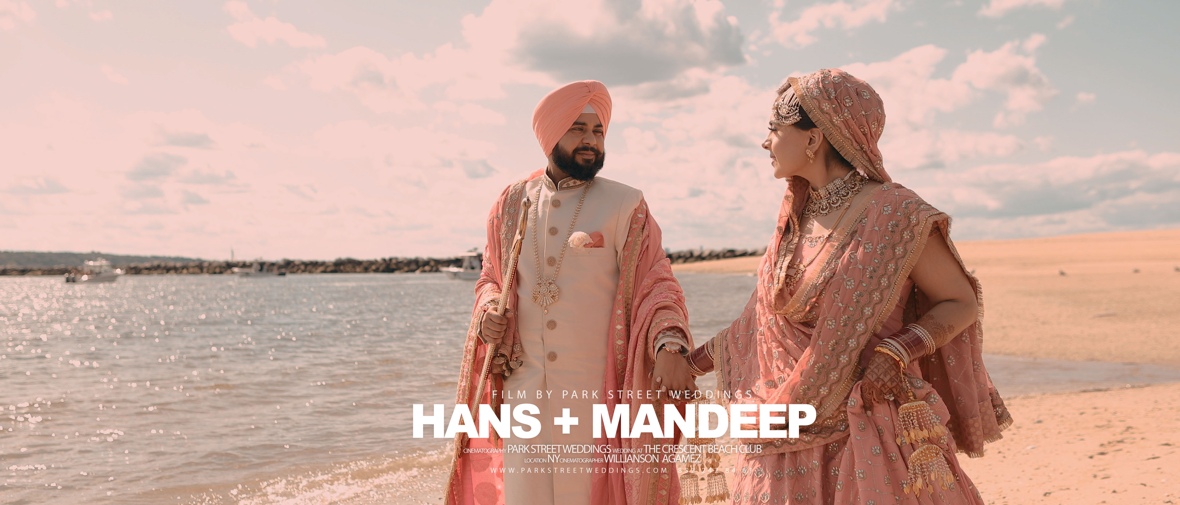 Hans + Mandeep | New York, New York | the cresent Beach Club