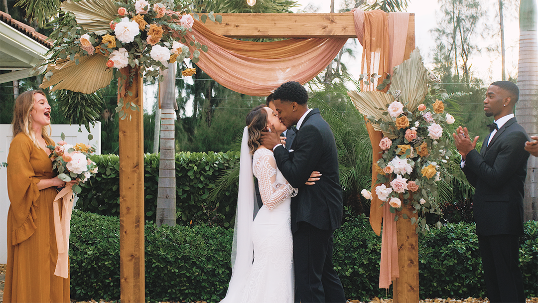 Gabriella + Dijoun | Jupiter, Florida | Backyard