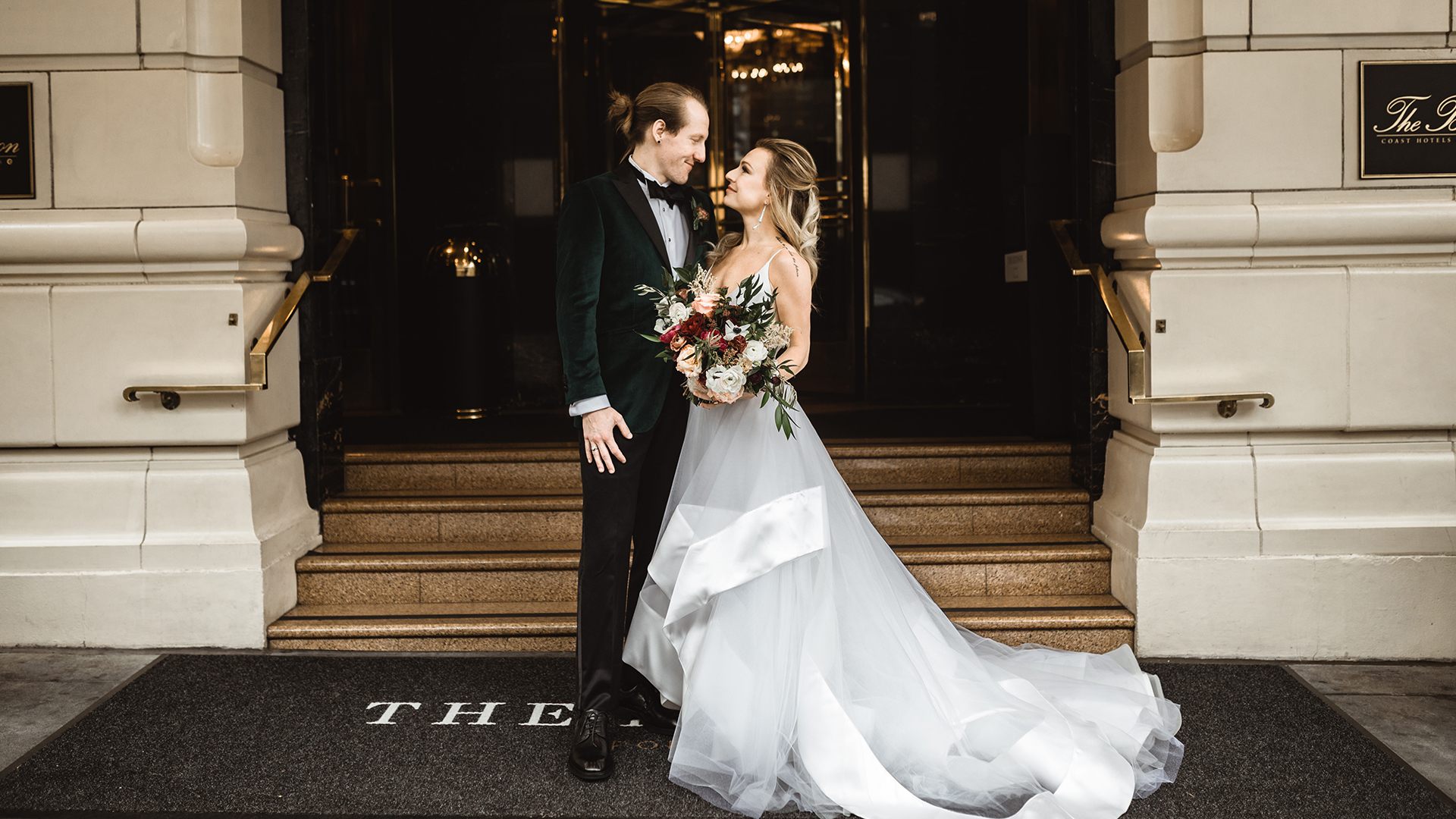 Melinda + Jake | Portland, Oregon | The Benson Hotel