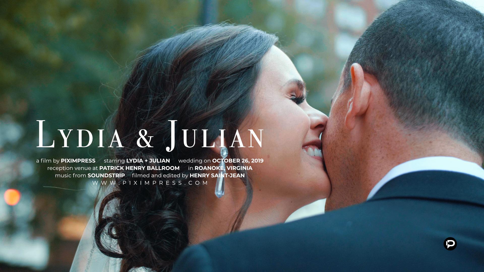 Lydia + Julian | Roanoke, Virginia | The Patrick Henry Ballroom