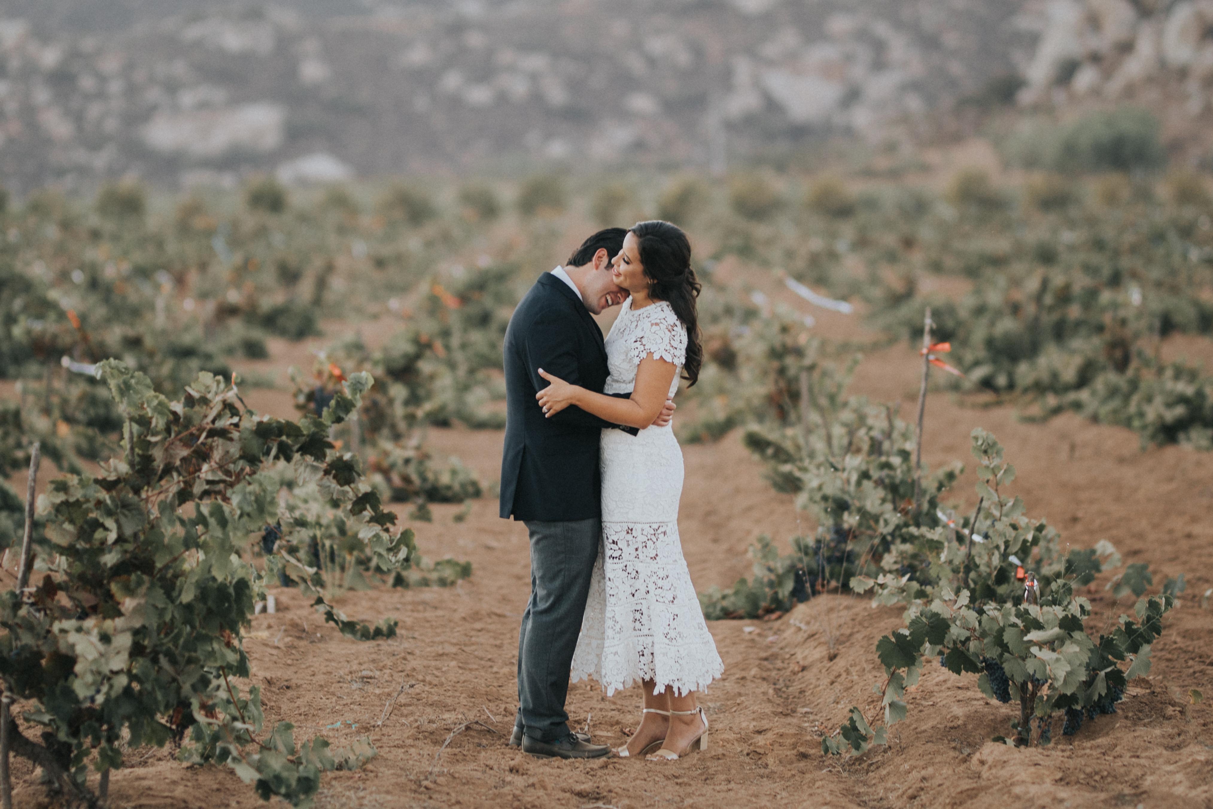 Erika + Raúl | Guadalupe, Mexico | Decantos Vineyard