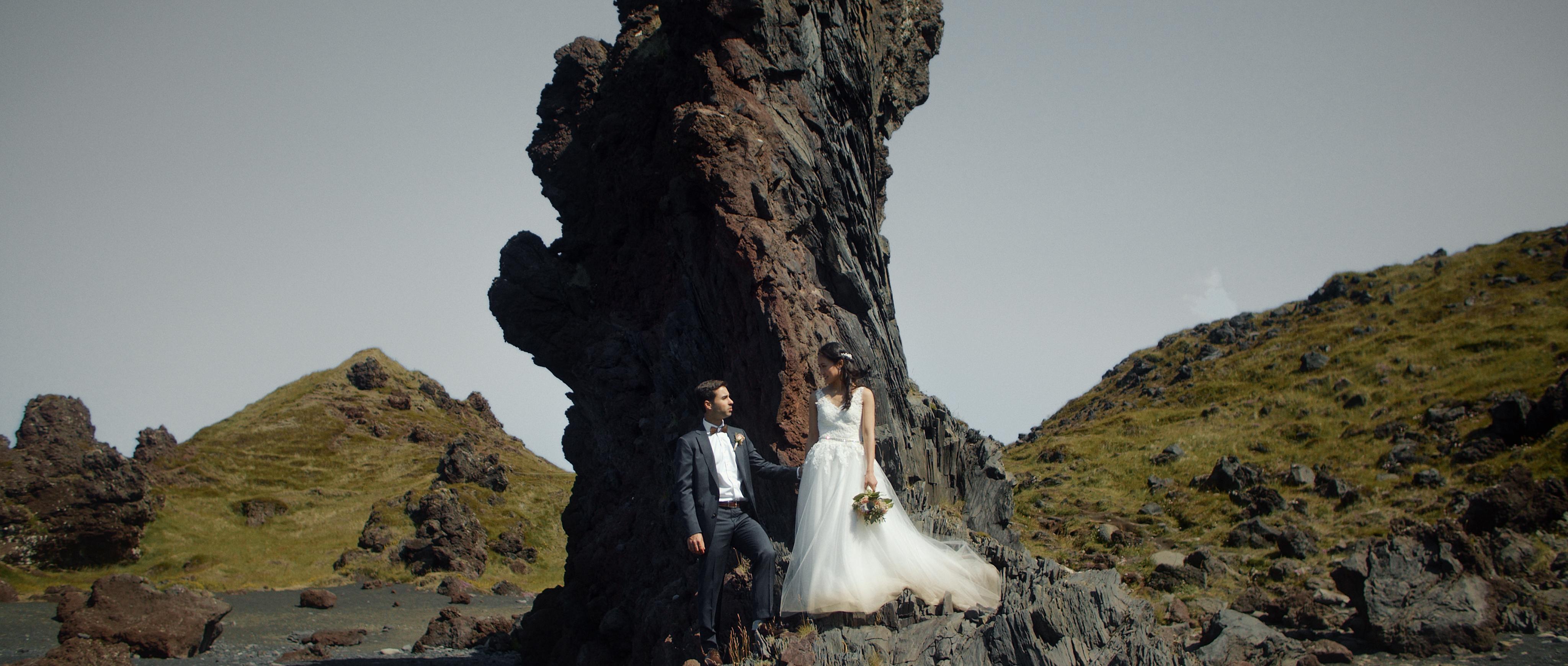 Jenn + Matt | Djúpavík, Iceland | a beach