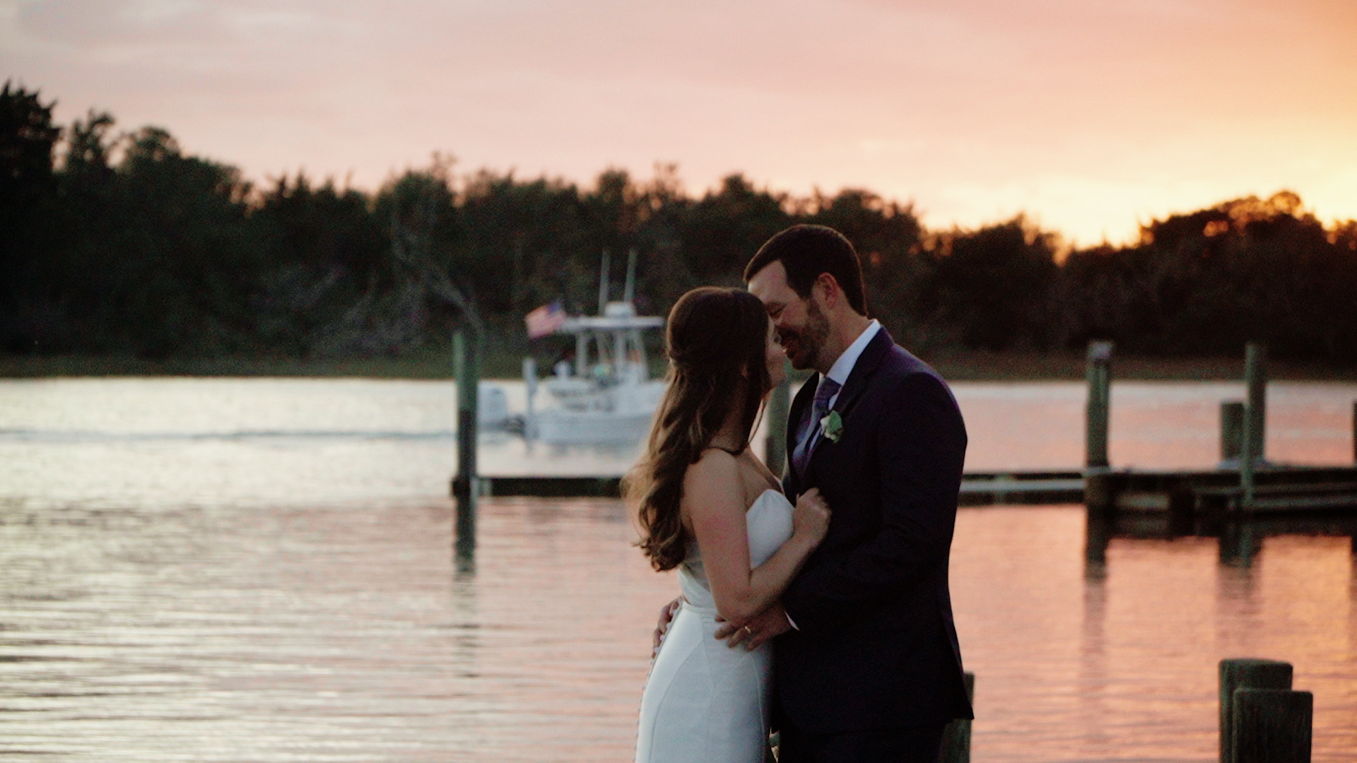 Lindsey + John | Beaufort, North Carolina | The Boat House Marina