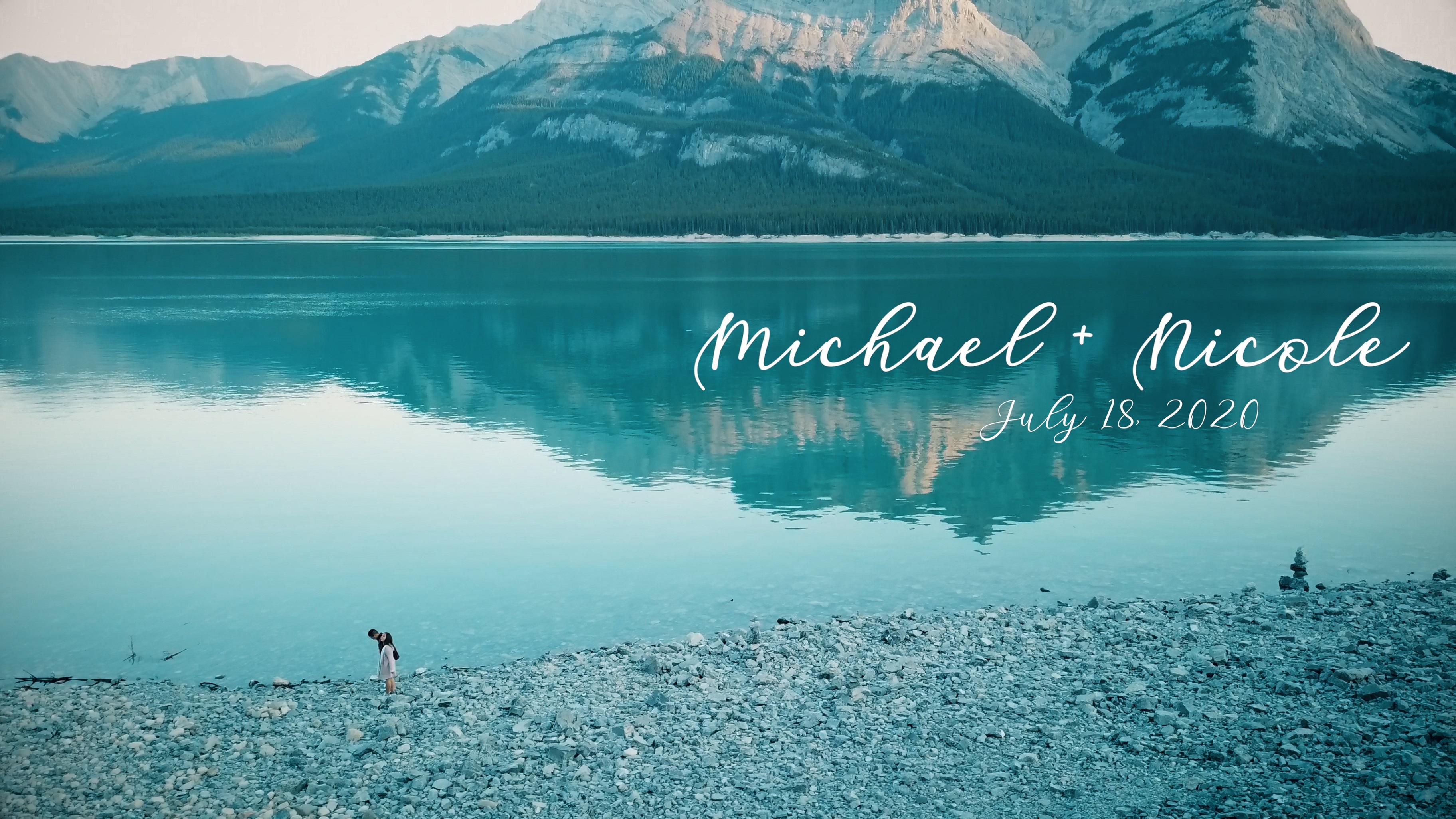 Michael + Nicole | Nordegg, Canada | Abraham Lake