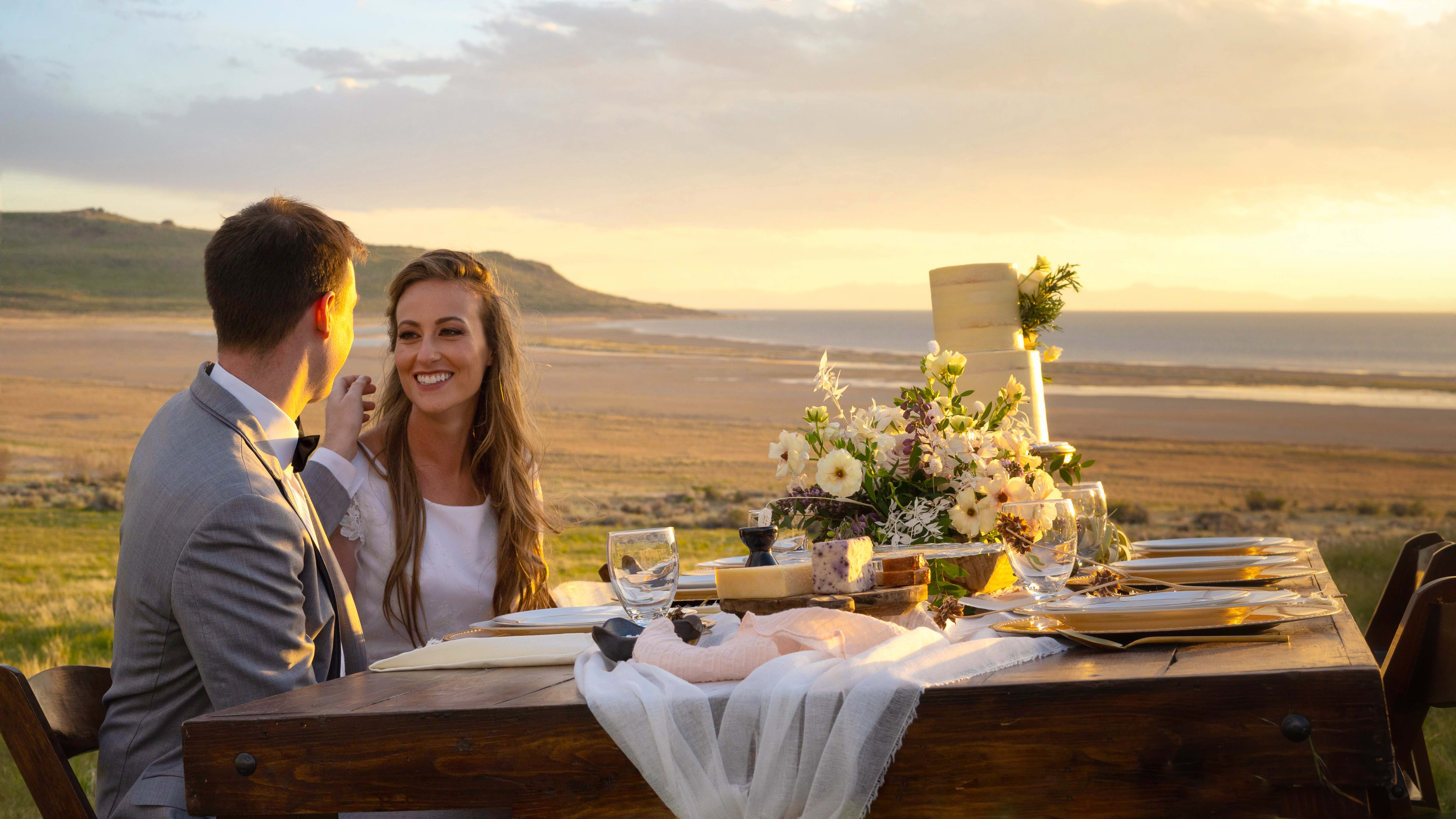 Jenna + Todd | Davis County, Utah | Antelope Island State Park