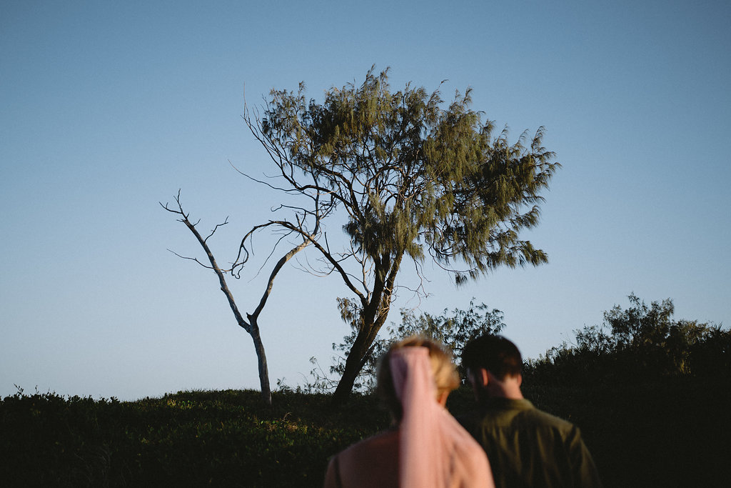 Hannah + Kieran | Caloundra, Australia | a cliff