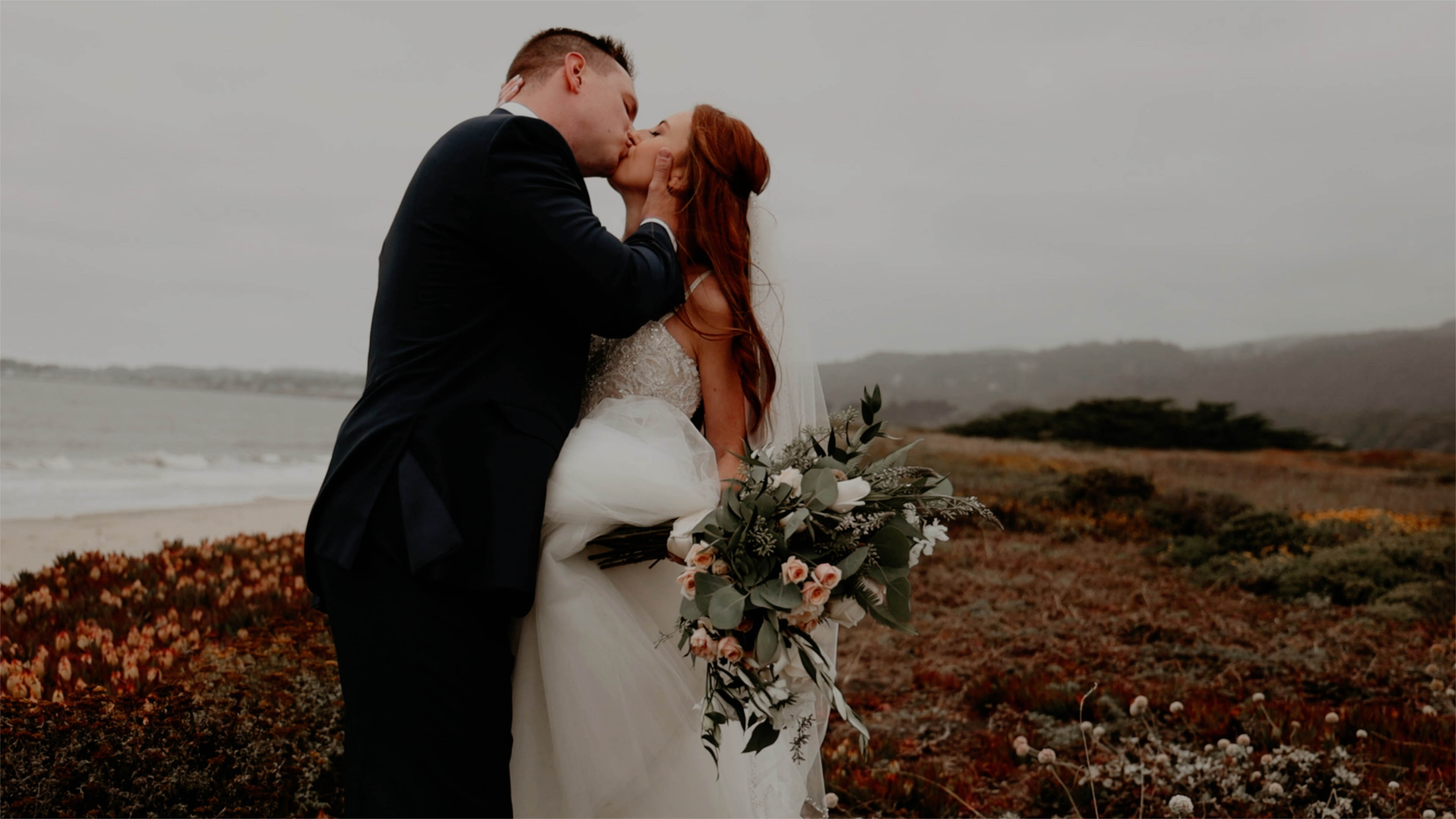 Amanda + Andrew | Half Moon Bay, California | a beach
