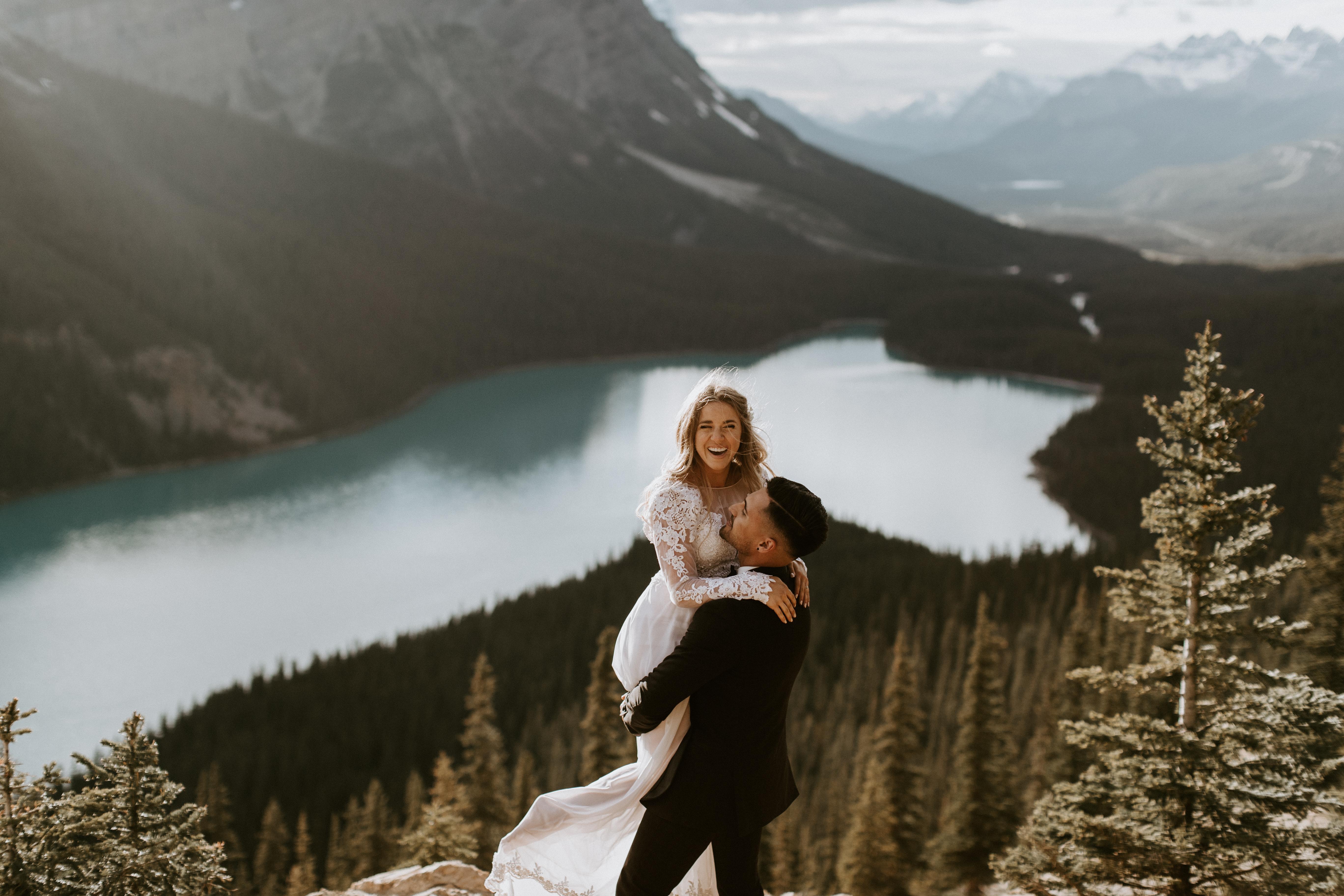 Laura + Joshaua | Banff, Canada | a mountaintop